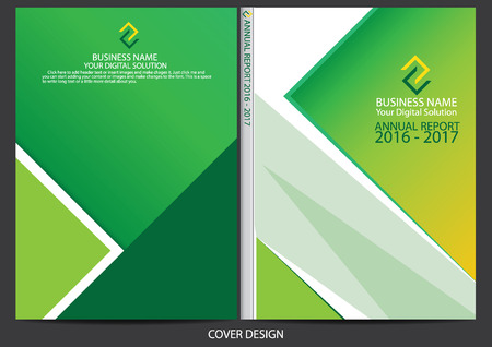 notebook cover: Annual report cover design