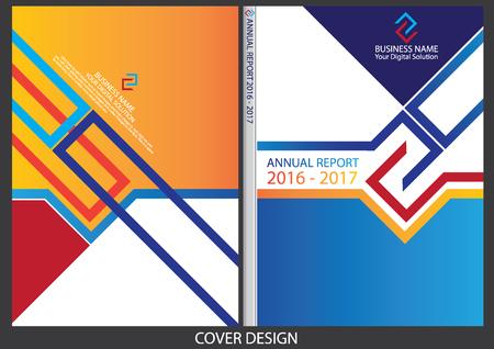 Relazione annuale cover design Archivio Fotografico - 58901509