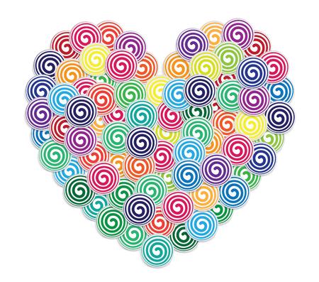 Valentine greeting card design