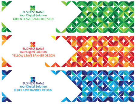 Colorful abstract banner background Ilustracja