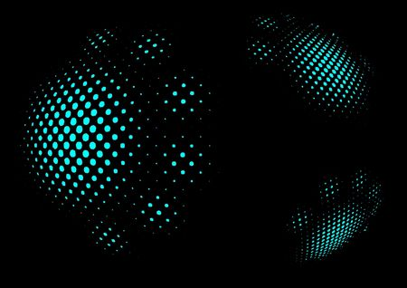 Abstract black background with cyan point