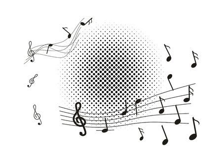 semibreve: Music background with violin clef and note