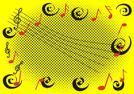semibreve: Yellow background with violin clef