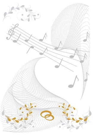 Wedding wishes with sheet of music Stock Photo - 3684290