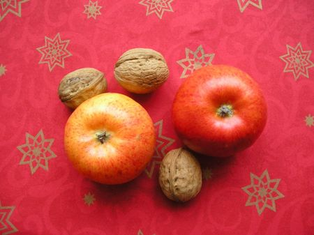 winesap apple: Decoration for Christmas time in red tone