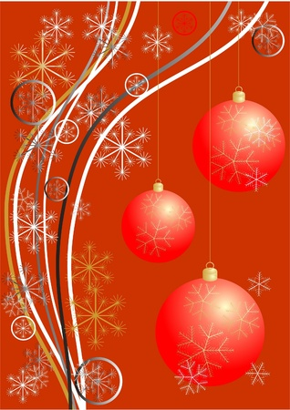 Christmas red card Stock Photo - 11108270