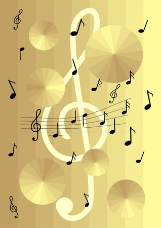 Music gold background photo