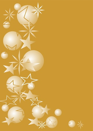 Christmas ball with star like gold background photo