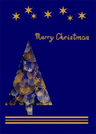 Christmas card with blue background photo