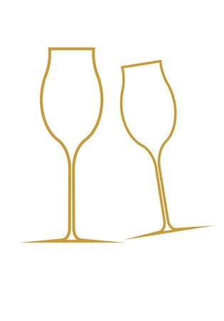 goblet: Goblet silhouette  Stock Photo
