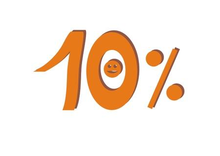 cent: Ten percent Stock Photo