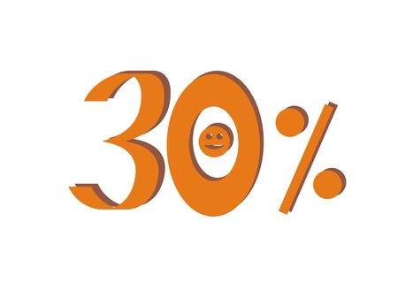 thirty: Thirty percent