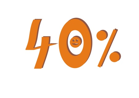 forty: Forty percent