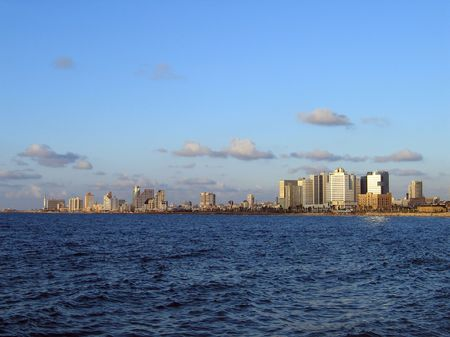 tel aviv: Panorama of Tel Aviv from Jaffa