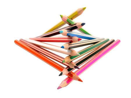 Color pencils on a white background Stock Photo - 606627