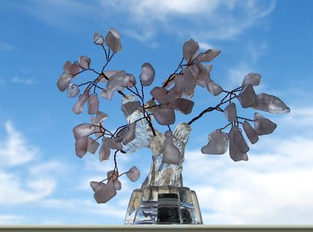 bonsai tree: Model of bonsai tree made of ornamental stone
