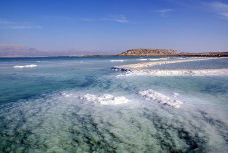 crystallization: Dead Sea and mountain Sdom