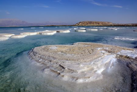 Dead Sea and mountain Sdom                     photo