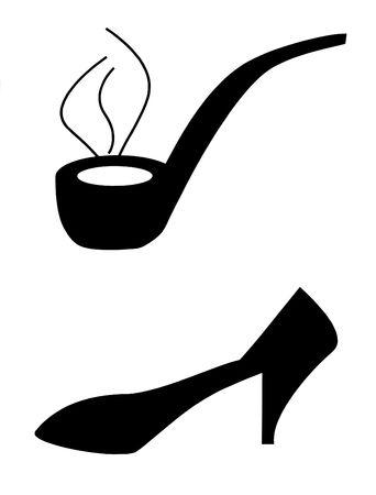 Symbols for a designation of a toilet room photo