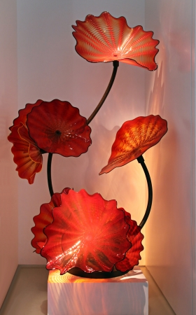 chihuly: Chihuly exhibit at Litvak gallery, Tel Aviv in 2011 Stock Photo