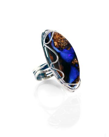 cabochon: Monili in argento da donna con opale