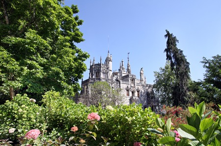 sintra: SINTRA - MAY 28, 2012: Rigaleyra Palace in Sintra