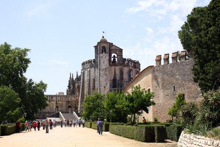 knights templar: TOMAR, PORTUGAL - JUNE 1, 2012: Residence of the Grand Master of the Order of the Knights Templar Portuguese 1169