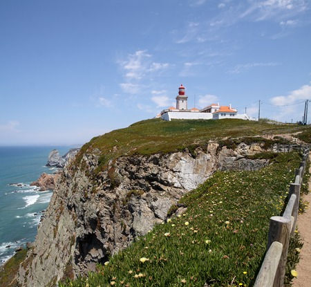 cabo: Cabo da Roca - the westernmost point of the Eurasian continent Stock Photo