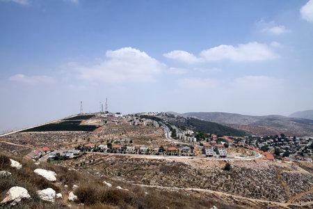 samaria: SAMARIA, ISRAEL - JULY 17, 2013: View of the Jewish settlement of Elon Moreh in Samaria