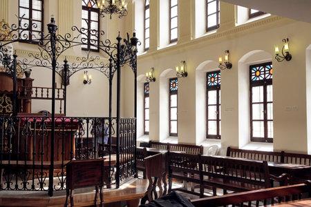 JERUSALEM, ISRAEL - FEBRUARY 21, 2014: 19th century synagogue Ohel Yitzchak in the Muslim Quarter of the Old City of Jerusalem