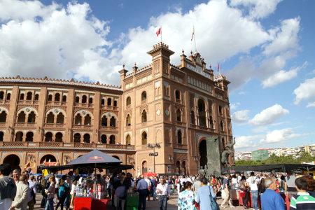 las ventas: MADRID,SPAIN - OCTOBER 05, 2013: Bullfighting arena Plaza de Toros de Las Ventas in Madrid