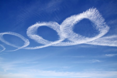 pilotage: Contrail in a spiral in the sky
