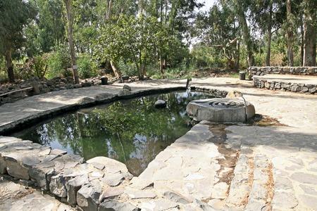 the golan heights: Water Eden Park arranged on the source of mineral water in the Golan Heights