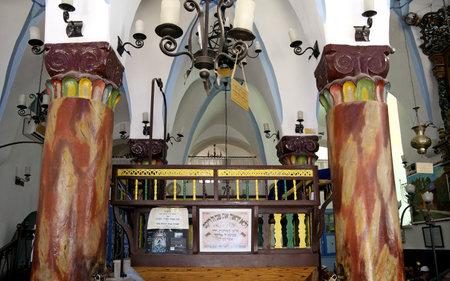 kabbalah: SAFED, ISRAEL - MAY 26, 2015: Interior Ari Ashkenazi synagogue in Safed. Synagogue was built in the sixteenth century