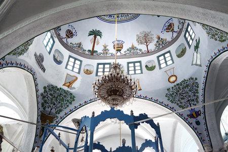 kabbalah: SAFED, ISRAEL - MAY 26, 2015: Interior Abuhav Synagogue in Safed. Synagogue was built in the sixteenth century