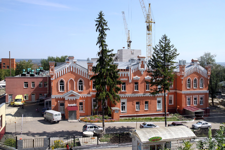 racional: PENZA, RUSSIA - AUGUST 13, 2012: buildings of the 18th century in Penza. Brick Style - the name of rational architecture. Today it is a hospital for infectious diseases