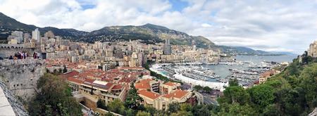 monte carlo: View from the observation point at the Monte Carlo and marina