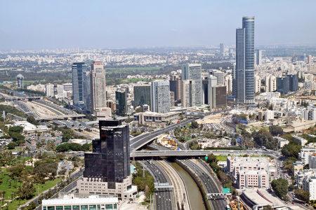 ramat aviv: RAMAT GAN, ISRAEL - MARCH 21, 2011: TEL AVIV, ISRAEL - MARCH 21, 2011: View from the heights of the Diamond Exchange in Ramat Gan