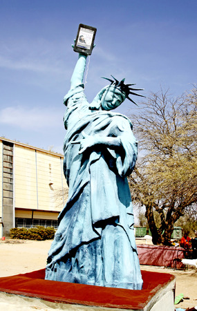 parody: SDE BOKER, ISRAEL - MARCH 19, 2011: parody on the American Statue of Liberty