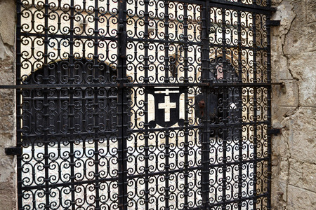 crusaders: Forged patterned gates in the city of the Crusaders, Rhodes, Greece