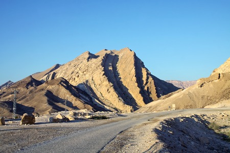 negev: Entrance in crater Makhtesh Katan in Negev Desert, Israel