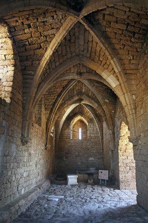 caesarea: CAESAREA, ISRAEL - FEBRUAR 28, 2016:  Fortified Crusader City in the National Archaeological Park Caesarea Editorial