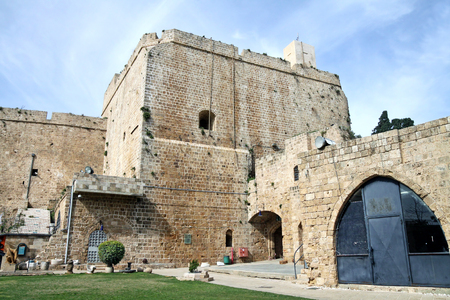 acre: ACRE, ISRAEL - MARCH 02, 2016: The fortified city of crusaders in Acre