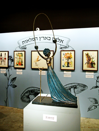 salvador dali: TEL AVIV, ISRAEL - APRIL 16, 2016: Alice in Wonderland by  Salvador Dali at the exhibition. inscription in Hebrew - Alice in Wonderland