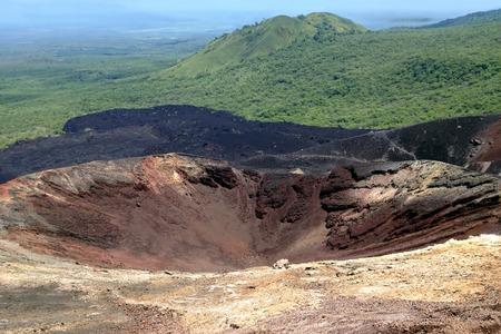 active volcano: Crater of an active volcano Cerro Negro near the city of Leon in Nicaragua