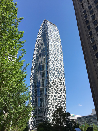 TOKYO, JAPAN - APRIL 23, 2017: Mode Gakuen Cocoon Tower is an innovative educational center in Tokyo Editorial