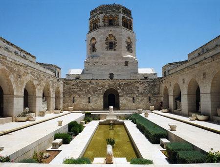JERUSALEM, ISRAEL - JUNE 25, 2017: Courtyard of the Rockefeller Archaeological Museum in Jerusalem Editorial