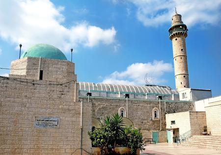 Mosque Al Amari in the city of Ramla, Israel Stock Photo