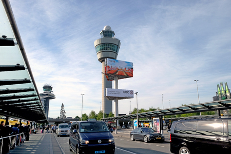 SCHIPHOL, HOLLAND - MAY 17, 2017: Dispatch tower at the airport of Amsterdam Schiphol