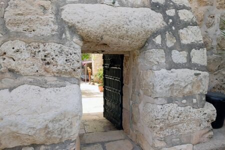 Entrance to the Monastery of the Cross in the Valley of the Cross in Jerusalem